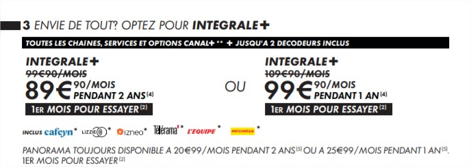 canal + offre liste 2